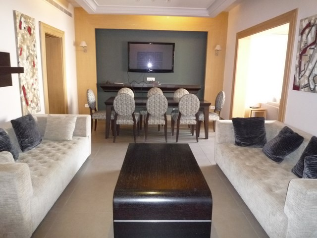 Deluxe Furnished Apartment For Rent Near The Amercian University Of Beirut Consisting 1 Living Room And Dining Fully Equiped Kitchen With A